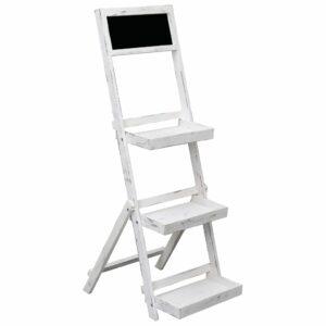 Tafel-Aufsteller Weiß 42×40×120 cm Holz