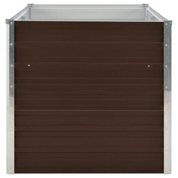 Hochbeet Braun 160 x 80 x 77 cm Verzinkter Stahl