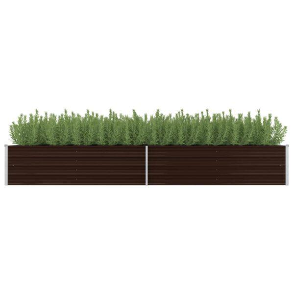 Garten-Hochbeet Braun 320 x 80 x 45 cm Verzinkter Stahl