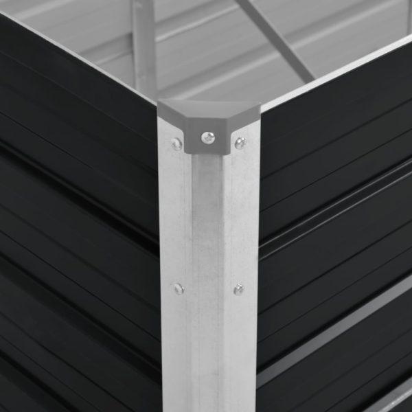 Garten-Hochbeet Anthrazit 240 x 80 x 77 cm Verzinkter Stahl