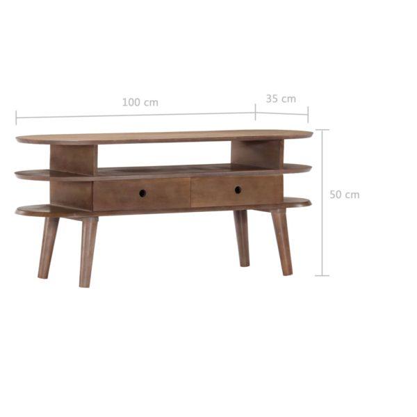 TV-Schrank 110×35×50 cm Massivholz Akazie