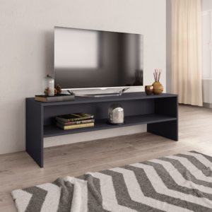 TV-Schrank Grau 120 x 40 x 40 cm Spanplatte