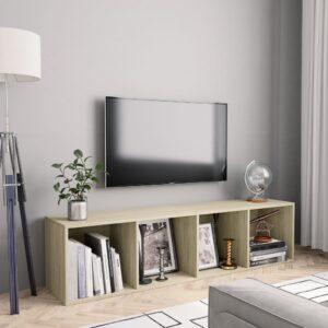 Bücherregal/TV-Schrank Sonoma-Eiche 143×30×36 cm
