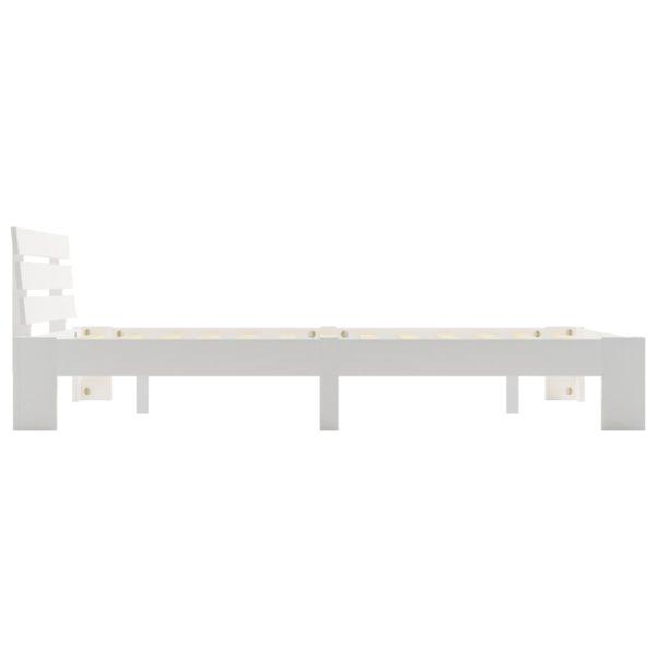 Bettgestell Weiß Massivholz Kiefer 140 × 200 cm