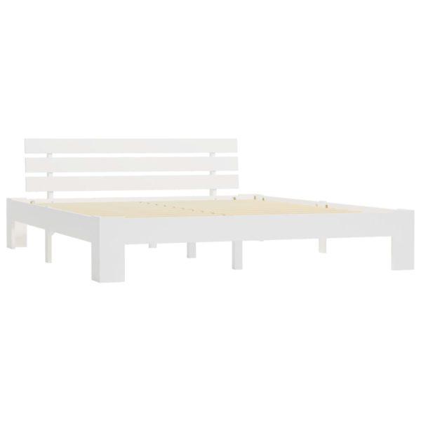 Bettgestell Weiß Massivholz Kiefer 180 × 200 cm