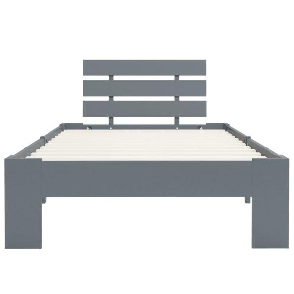 Bettgestell Grau Massivholz Kiefer 90×200 cm