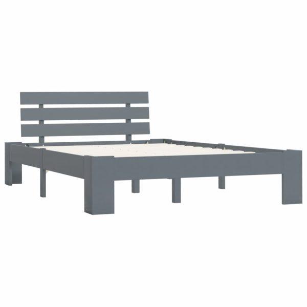 Bettgestell Grau Massivholz Kiefer 120 × 200 cm