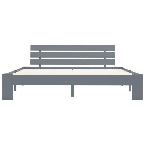 Bettgestell Grau Massivholz Kiefer 180 × 200 cm