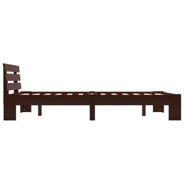 Bettgestell Dunkelbraun Massivholz Kiefer 120×200 cm