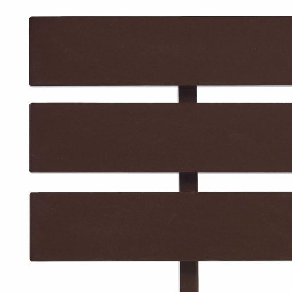 Bettgestell Dunkelbraun Massivholz Kiefer 140×200 cm