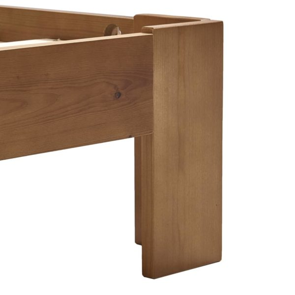 Bettgestell Honigbraun Massivholz Kiefer 180×200 cm