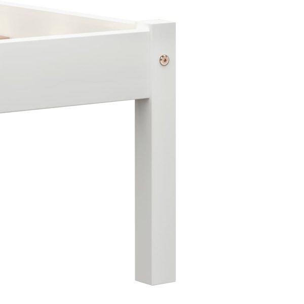 Bettgestell Weiß Massivholz Kiefer 120×200 cm