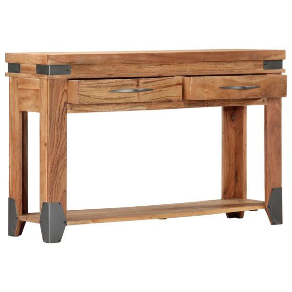 Konsolentisch 120×35×75 cm Akazie Massivholz