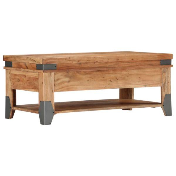 Couchtisch 110 x 55 x 45 cm Massivholz Akazie