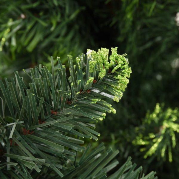 Künstlicher Weihnachtsbaum mit Kiefernzapfen Grün 210 cm