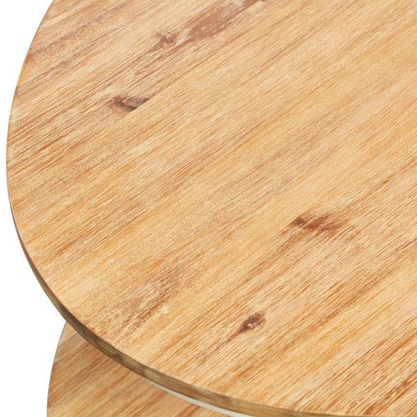 Couchtisch 102×62,5×42 cm Massivholz Akazie