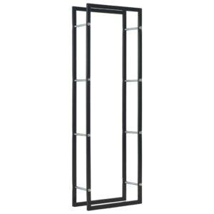 Brennholzregal Schwarz 50 x 20 x 150 cm Stahl
