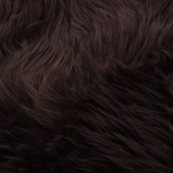 Schaffell-Teppich 60×90 cm Braun
