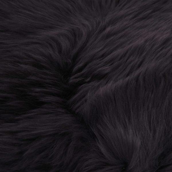 Schaffell-Teppich 60×90 cm Dunkelgrau