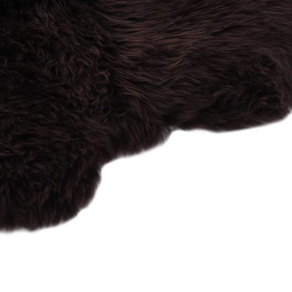 Schaffell-Teppich 60×180 cm Braun
