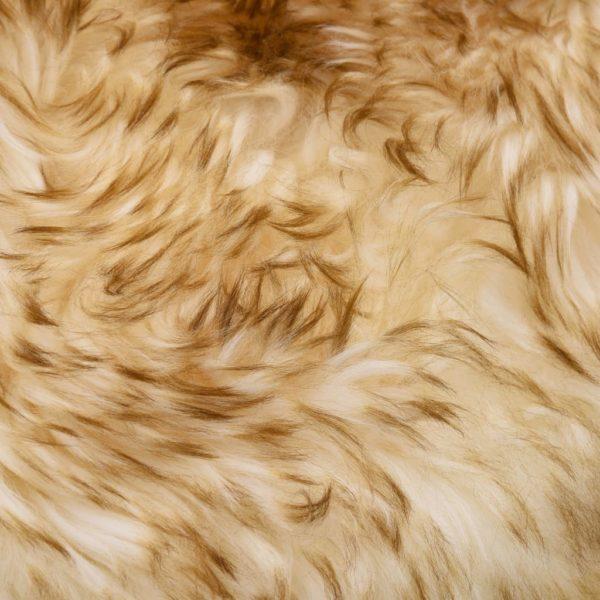 Schaffell-Teppich 60×180 cm Braun Mélange