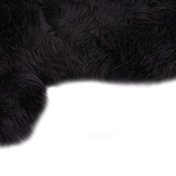 Schaffell-Teppich 60×180 cm Dunkelgrau