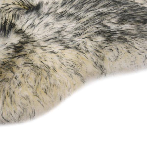 Schaffell-Teppich 60×180 cm Dunkelgrau Mélange