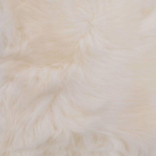 Stuhlkissen 2 Stk. Weiß 40×40 cm Echtes Schaffell