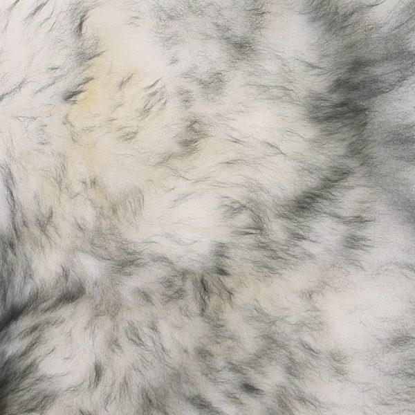 Stuhlkissen 2 Stk. Dunkelgrau Mélange 40×40 cm Echtes Schaffell