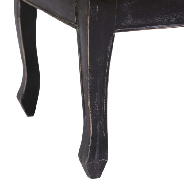 Couchtisch Schwarz 120 x 60 x 45 cm Massivholz Mahagoni