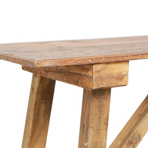 Esstisch 120×55×78 cm Recyceltes Massivholz