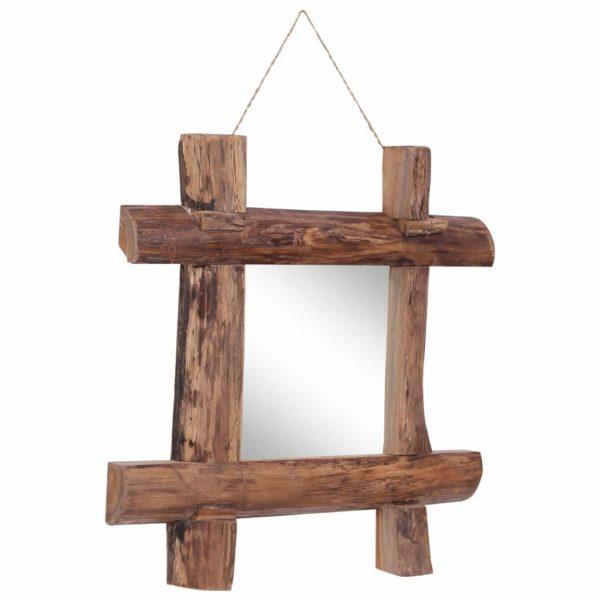 Holzspiegel Natur 50×50 cm Recyceltes Massivholz