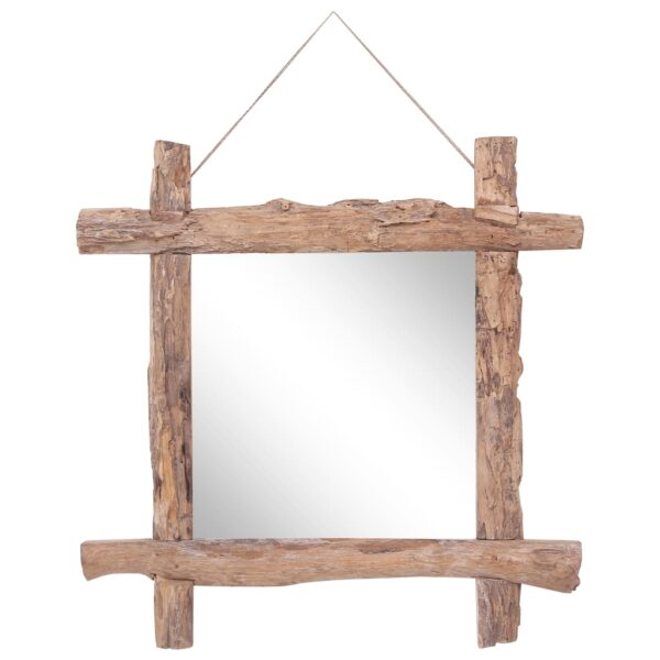 Holzspiegel Natur 70×70 cm Recyceltes Massivholz