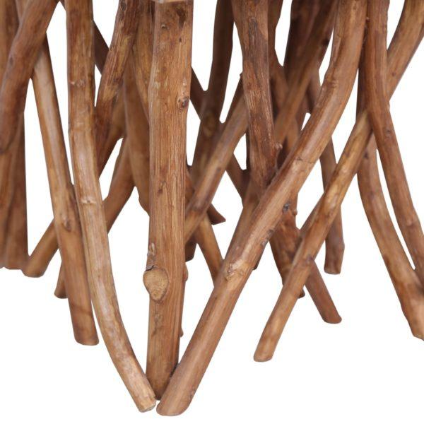 Couchtisch aus Baumstämmen 40 x 40 x 40 cm Massivholz