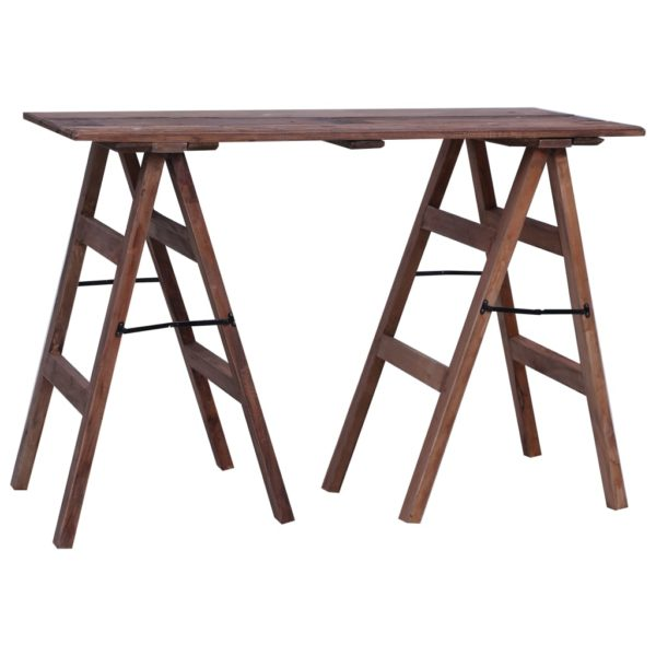 Schreibtisch 116×55×80 cm Massivholz Altholz