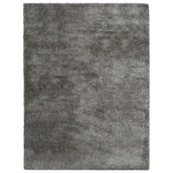 Hochflor-Teppich 120 x 160 cm Anthrazit