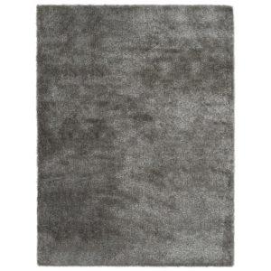 Hochflor-Teppich 140 x 200 cm Anthrazit