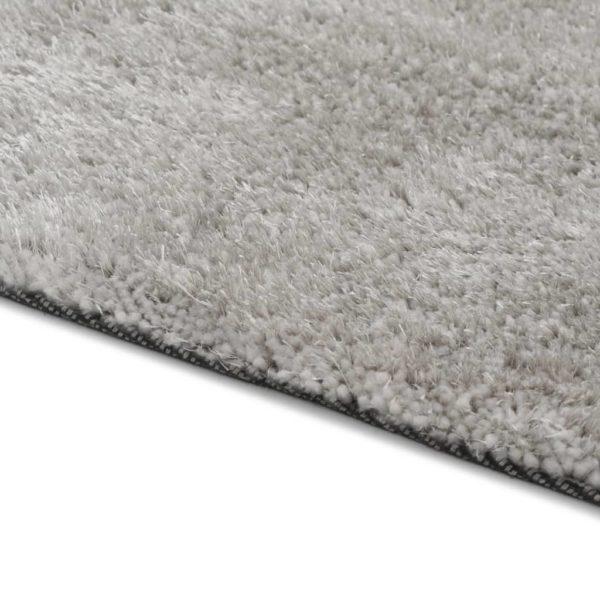 Hochflor-Teppich 120 x 160 cm Grau