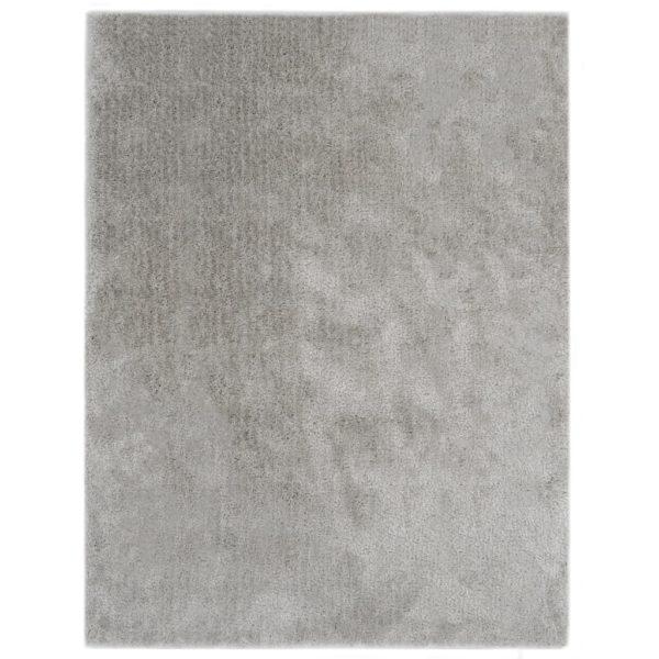 Hochflor-Teppich 140 x 200 cm Grau