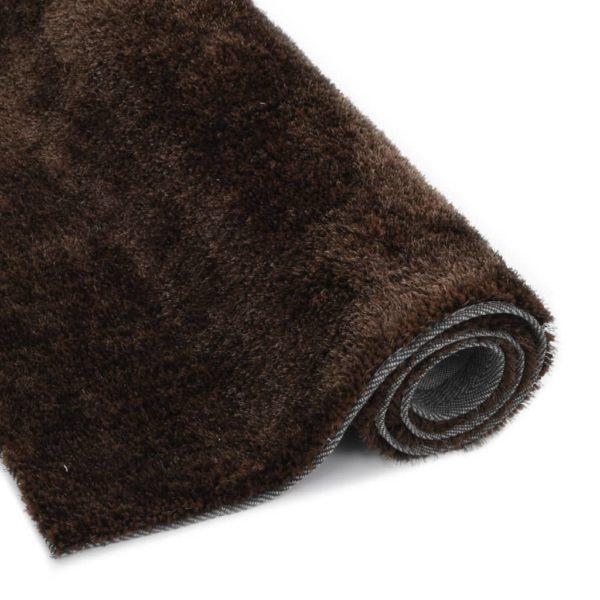 Hochflor-Teppich 80×150 cm Braun