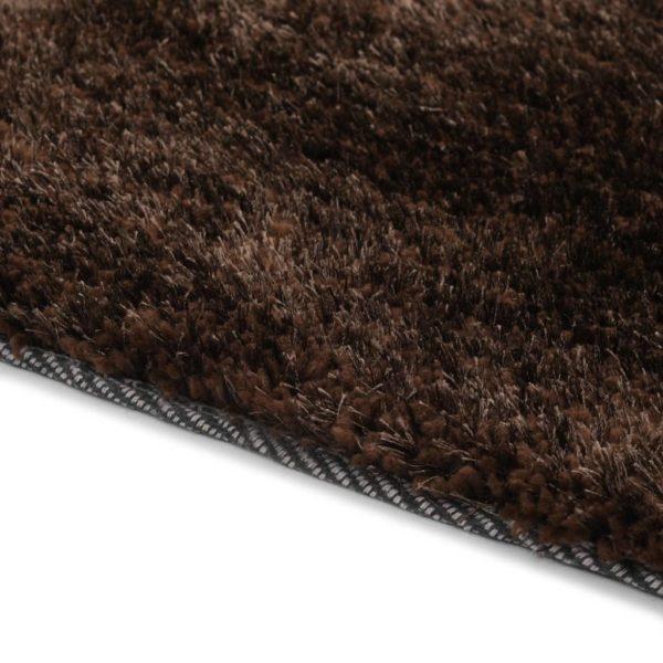 Hochflor-Teppich 140 x 200 cm Braun