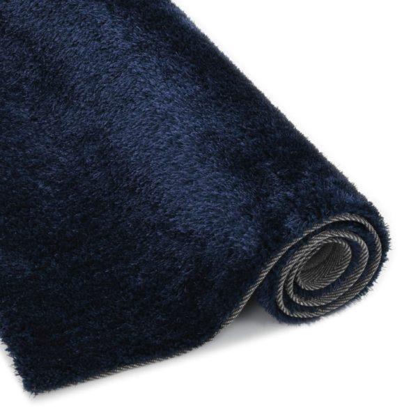 Hochflor-Teppich 120 x 160 cm Blau