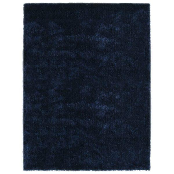 Hochflor-Teppich 140 x 200 cm Blau