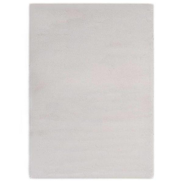 Teppich 140×200 cm Kunstkaninchenfell Grau