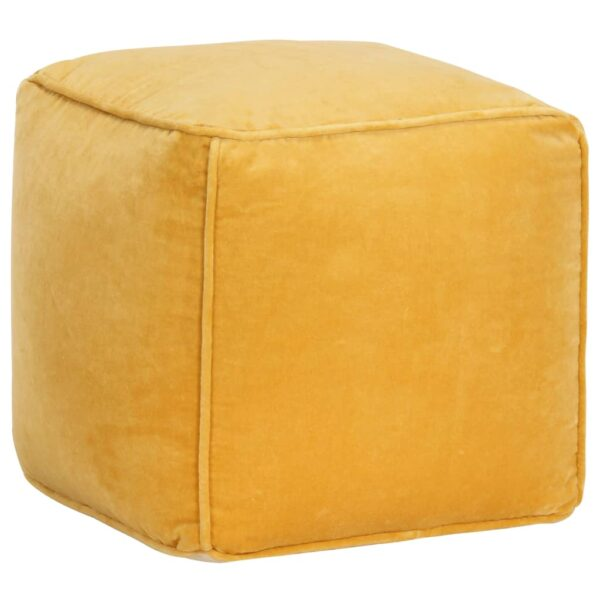 Pouf Baumwollsamt 40×40×40 cm Gelb