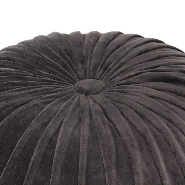 Pouf Baumwollsamt Kittel-Design 40×30 cm Anthrazit
