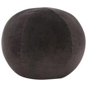 Pouf Baumwollsamt 50×35 cm Anthrazit