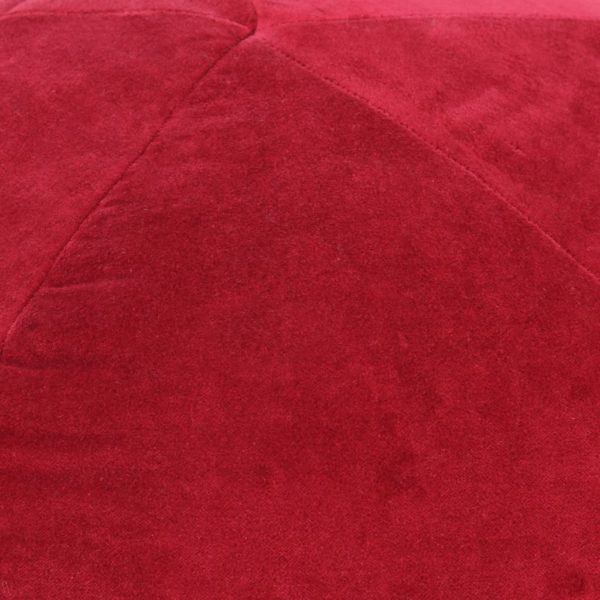Pouf Baumwollsamt 50×35 cm Rot
