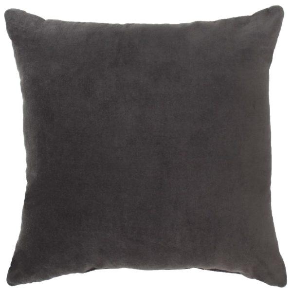 Kissen Baumwollsamt 2 Stk. 45×45 cm Anthrazit