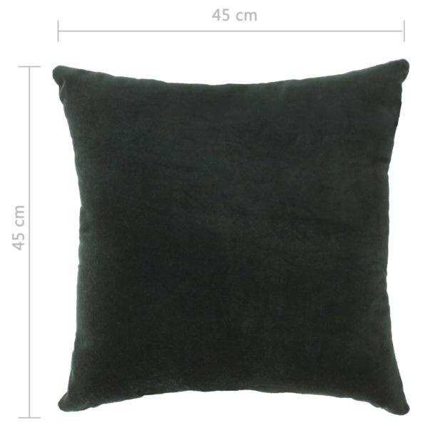 Kissen Baumwollsamt 2 Stk. 45×45 cm Grün